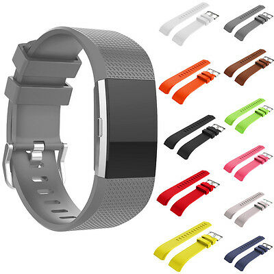 Sports Classic Silicone Replacement Watch Band Strap For Fitbit Charge2 Bracelet
