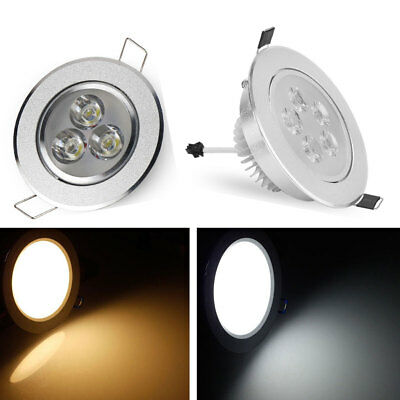 3W/5W LED Ceiling Down Light Bulb Cabinet Recessed Fixture Spot Lamp Kits+Driver