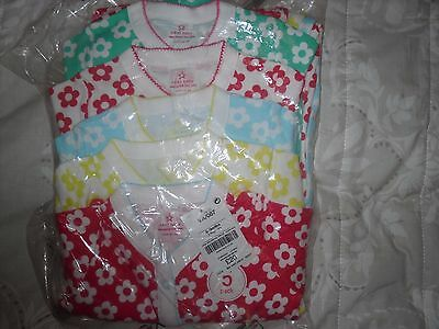 Girls  Next 5 sleepsuits pack 6-9 months new