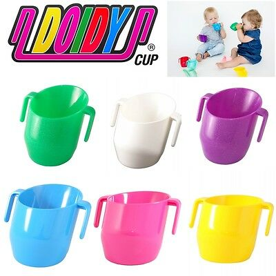 Doidy Unique Slant Toddlers Training Mug with 2 Handles Baby Cup BPA Free