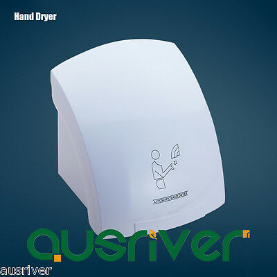 1800W Bathroom Washroom Automatic Hand Dryer White Factory Outlet