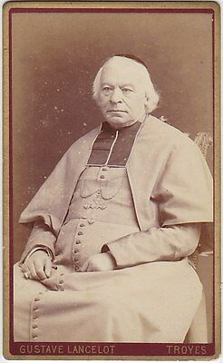 French CDV, Ecclesiatical, Bishop, Church, Seated, by Gustave Lancelot, Troyes