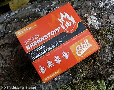 Esbit 6 X 14G Solid Fuel Tablets Hexi Blocks Cooker Stove Fuel Bushcraft
