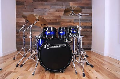 Noble & Cooley Cd Maple 5 Piece Drum Kit Blue Black Sparkle Fade Lac (Pre-Loved)
