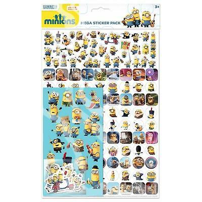 MINIONS Kids Stickers Mega Pack Over 150 Minion Stickers Loot Party Bag Fillers