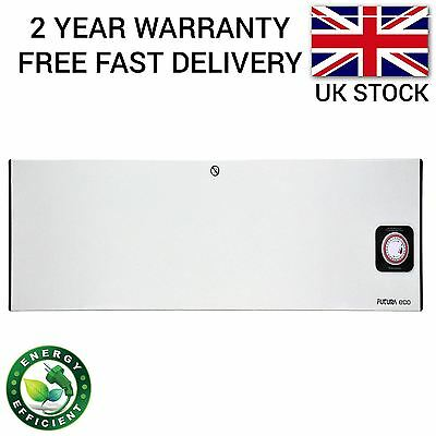 1.5Kw Slim Electric Panel Heater Radiator Convector Wall Mounted Timer