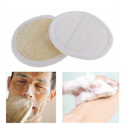 2pcs Soft Loofah Face Cleansing Sponge Exfoliating Pad Facial Cleaning Puff
