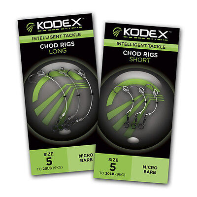 Kodex PVA Bag Quick Change Rigs Short 3.5in Barbless Bag /& Stick Ready Rigs