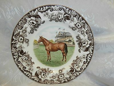 Spode Woodland Horses Thoroughbred Horse 10.5 Inch Dinner Plate Rare Brand New