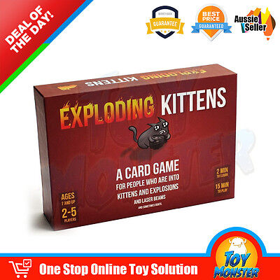 OZ Exploding Kittens Board Party Card Game - ORIGINAL Edition - Aussie Version