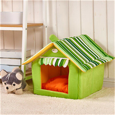 Foldable Pet House Bed Dog Cat Pad Soft Kennel Mat Warm Puppy Cushion Basket New