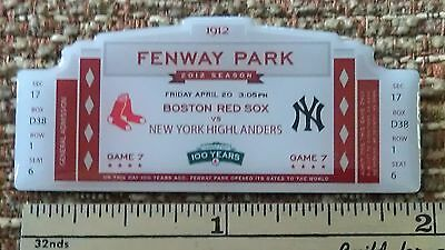 RED SOX 100th Anniversary OPENING DAY April 20, 1912 FENWAY PARK Lapel Pin