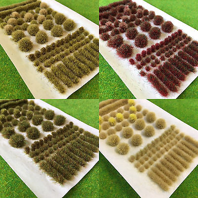 BIG True Tufts mixed - Model Scenery Static Grass Natural Shapes Self Adhesive