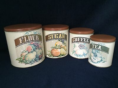 Vintage Kitchen Cannister Set Of 4 Cheinco
