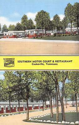 Cookeville Tennessee Southern Motor Court Multiview Antique Postcard K57309