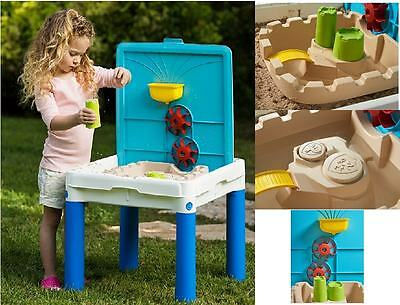 Sand and Water Play Table Toy Set Watering Garden Activity Sandpit Children Kids