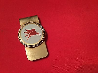 Vintage  flying A Gas Money Clip Metal Advertisement Logo