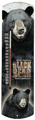 Heritage America by MORCO 375BB Black Bear Outdoor or Indoor Thermometer ... NEW