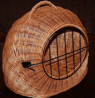 SMALL- Wicker Pet Carrier - BED-Igloo / FOR SMALL Dog Cat KITTEN  Rabbit