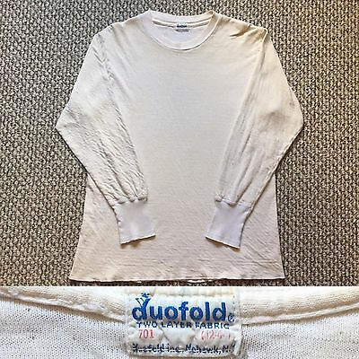 Vintage Vtg 1960s 60s Rare Duofold Two Layer Fabric Thermal Shirt