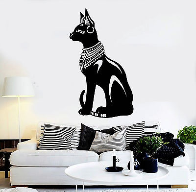 Vinyl Wall Decal Egyptian Cat Bastet Ancient Egypt Stickers Mural (ig4622)