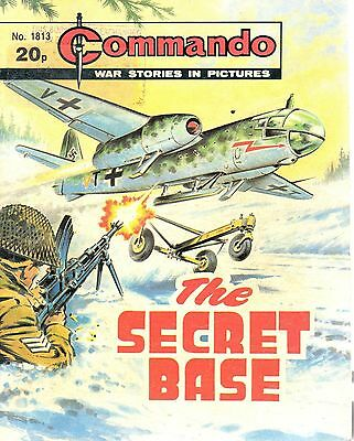 1984  No 1813 81299  Commando Comic War Stories In Pictures  THE SECRET BASE