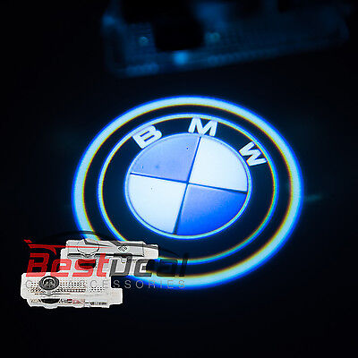 2 X 3D LED Door Logo Welcome Lights Direct Replacement For BMW F10 F11 F30 E84
