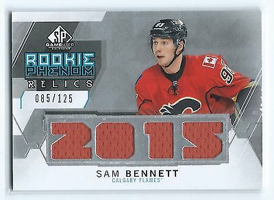 15-16 UD Hockey Game Used Rookie Phenom Relics Sam Bennett Calgary Flames /125