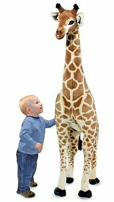 Giant Stuffed Giraffe Animal Melissa & Doug Lifelike 4 feet tall Kids Toy New