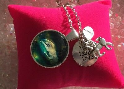 00086   UNICORN MAGIC Infused Necklace™ Live Laugh Love Realm CACR