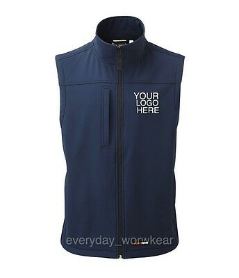 Personalised Embroidered Soft-shell Bodywarmer Gillet Mens Ladies Work