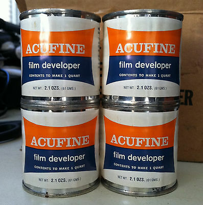 4 Cans of Acufine Fine Grain Black and White Film Developer Kodak Fuji Ilford