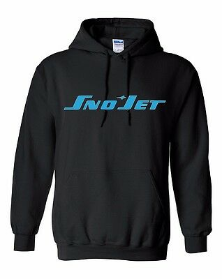 SNO JET  Vintage Snowmobile Hooded Sweatshirt Sizes to 5X! CHOOSE COLOR SNOJET
