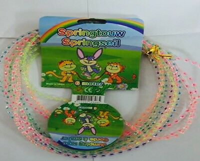 Skipping Rope Rainbow Coloured Rope Outdoor Toy Jumping Kids Toys
