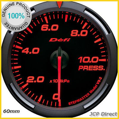 DEFI Racer Gauge Oil/Fuel Pressure Gauge 60mm Red