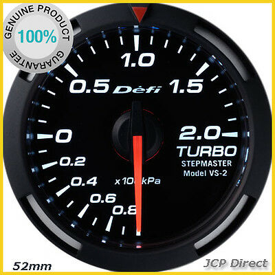 DEFI Racer Gauge Turbo Boost Gauge 52mm White