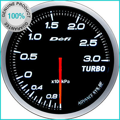DEFI Link Meter ADVANCE BF Turbo Boost Gauge 3.0kPa White NEW MODEL
