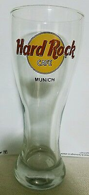 Hard Rock Cafe Pilsner Style Beer Glass - Munich - NEW Rare Int'l