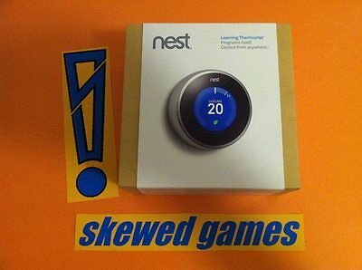 NEST Learning Thermostat 2nd Second Generation NEW Box Opened Never Used T200477
