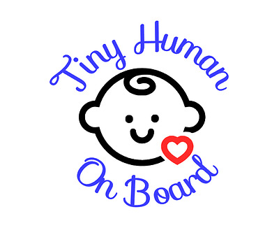 Tiny Human on Board vinyl decal sticker for car window Safety Sign Baby boy