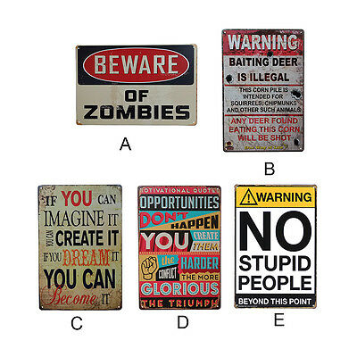 retro style iron sign painting warnings decorative signs vintage metal