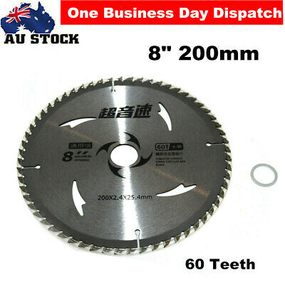 Aluminum Alloy Circular Saw Blade 200mm 60TEETH 25.4MM BORE With Reduction Ring