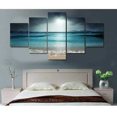 5pcs Modern Artwork Canvas Wall Decorative Painting Set Sunset Print Pictures
