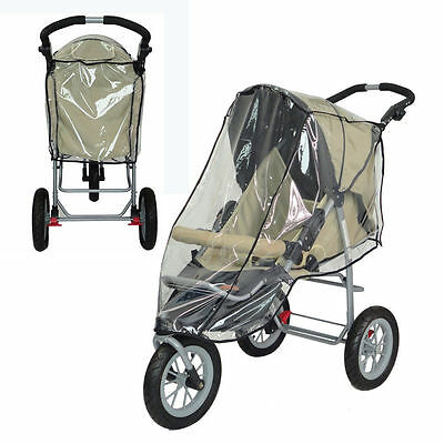 Universal Rain Cover Fit Pushchair Pram Stroller Buggy Baby Jogger Carry-Cot Au