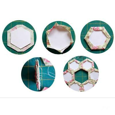 100 Pieces Sew Easy Mini Hexagon Quilting/Patchwork Template Sewing Paper Craft
