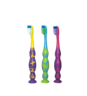 Piksters Children's Suction Toothbrush 3-10yrs VARIOUS COLOURS Piksters
