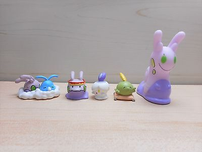 Pokemon Center Goomy Gashapon Figure 2015 & Sliggoo Finger Puppet Figure Set