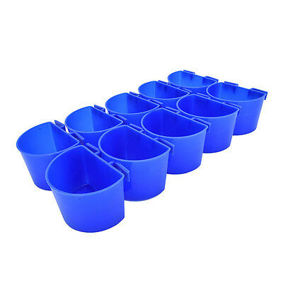10 pcs Set Cup Hanging Water Feed Cage Cups Poultry Gamefowl Rabbit Chicken