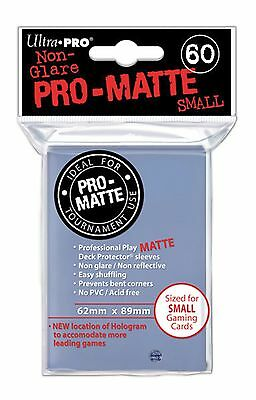 Ultra Pro Deck Protector Sleeves x60 - Pro Matte Non-Glare - Small - Clear