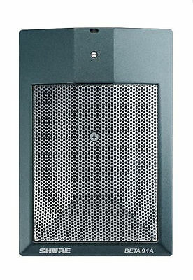 Shure Beta-91A Boundary Condenser Microphone for Kick Drum, Double Bass, Piano